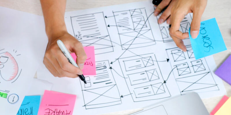 innovation-ideation-person-creating-wireframes